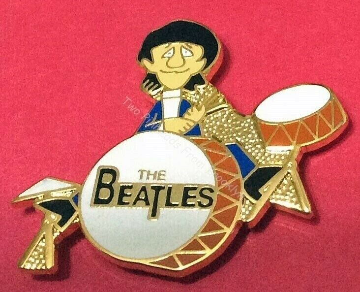 BEATLES RINGO STARR ON HIS DRUM CHARACTER COLLECTOR PIN LAST FEW!!