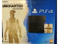 Playstation 500gb with uncharted collection