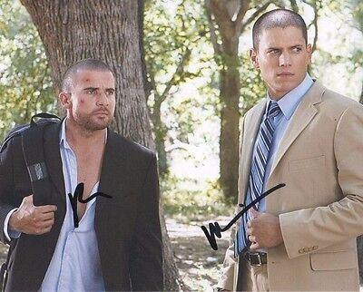 Wentworth Miller Dominic Purcell Prison Break Autographed Signed 8X10 Photo Coa