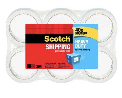 Scotch Heavy Duty Shipping Packaging Tape 1.88 In X 60.15 Yd 6-pack