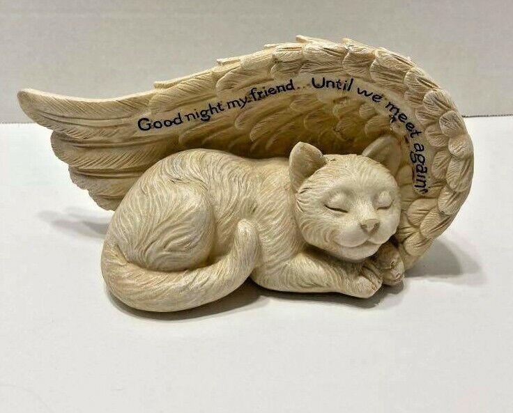 Peaceful Cat Memorial Outdoor Indoor Statue Plaque Garden Yard Lawn - CA$19.25