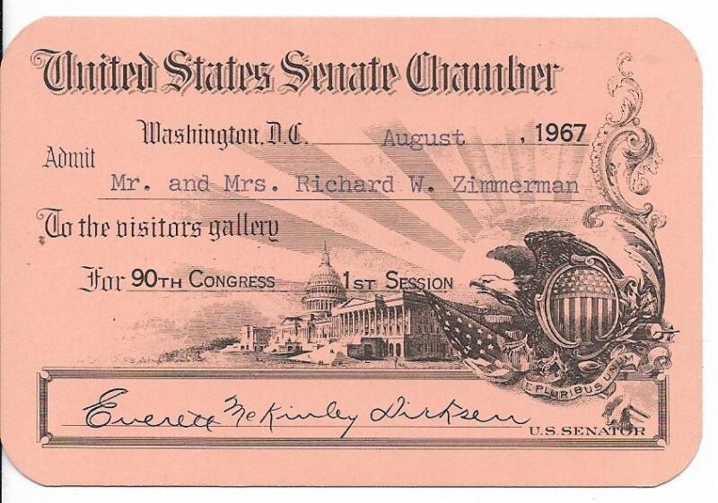 US Senate Chamber Visitor