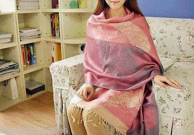 Pink Cashmere Scarf Patchwork Plaid Poncho High Quality Women Print Cape Poncho