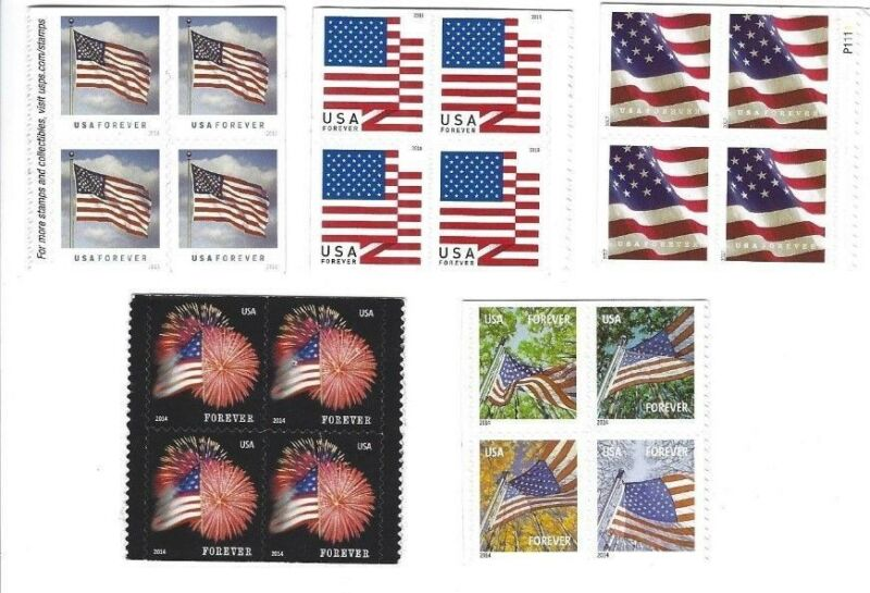 Usps Forever 20 Random Stamps In Blocks Of 4 - For Postage