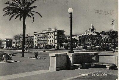 MESSINA VIA GARIBALDI VIAGGIATA 1956
