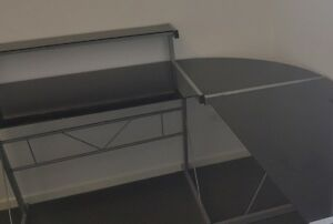 Tempered glass corner desk Bentleigh East Glen Eira Area Preview