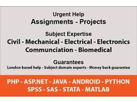 Engineering Assignments – Project – C, C++, PHP, JAVA, Python, Access, SQL, SPSS, SAS, STATA, Matlab