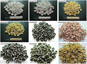 100Pcs-Czech-Crystal-Rhinestone-Wavy-Rondelle-Spacer-Beads-4mm-5mm-6mm-8mm-10mm