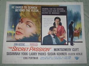 ORIGINAL FREUD MOVIE POSTER, HS, 1963, MONTGOMERY CLIFT