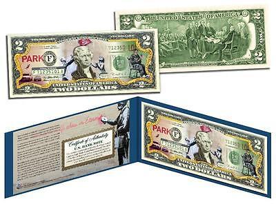 BANKSY * POSTING SIGNS * $2 Bill U.S. Legal Banknote Tender Street Art Graffiti