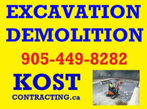 EXCAVATION - GRADING - DEMOLITION - CONCRETE REMOVAL - HAULAGE
