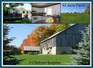 Farm- 92 Acres with 60 workable + Bungalow and Outbuildings