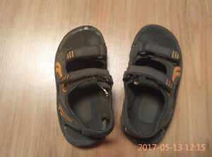 Sandals and water shoes for toddler boy size 9