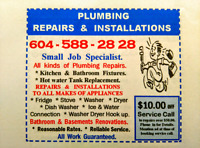 Any kind  Plumbing Repairs Renovations & Installation s