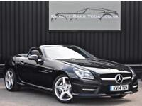 2014 Mercedes SLK 200 AMG Sport Automatic *Obsidian Black + Nav + Airscarf + Hea