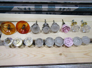 17 desk side table dresser knobs + bakelite antique vintage