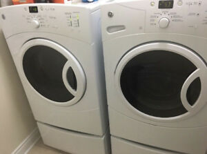 """GE White Front Load 27"""" Washer Dryer CAN DELIVER"""