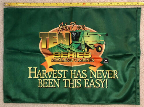 "NEW John Deere 20""x14"" Flag/Banner, Maximizer Combine, Harvest, FREE SHIPPING"