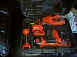 Barley used black and decker cordless set with case