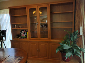 Maple solid display cabinet