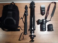 Canon 60D + 18-200 IS + Flash + trépied Manfrotto + EXTRAS !!!