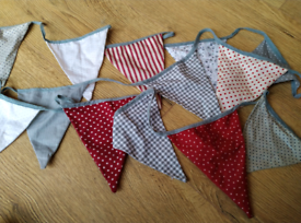 Double Sided Fabric Bunting.