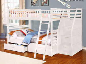 NEW!  Full over Full Bunk Bed w/ Storage Drawers!  FREE Delivery Comox / Courtenay / Cumberland Comox Valley Area image 5