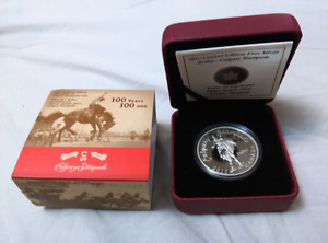 2012 100 Years of Calgary Stampede Silver Dollar Coin Limited ed