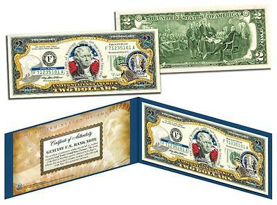 WYOMING Statehood $2 Two-Dollar Colorized US Bill WY State -Genuine Legal Tender