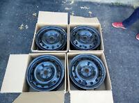 """Set of 4 Steel Winter Rims - 17"""" , 225mm Width Tires"""
