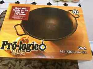 "Lodge 14"" wok used for sale - $50"