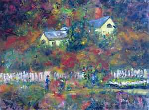 Oil Painting - Cottage Garden by Nova Scotia Artist Tootsie Emin