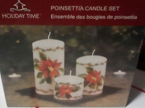 Pointsettia Candles For Sale