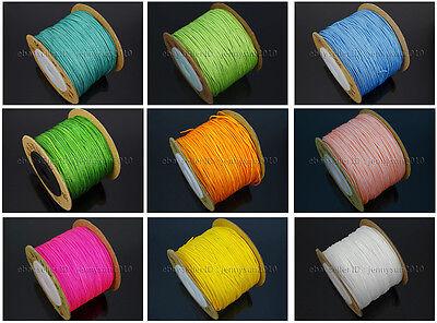 Satin Silk Braid Rattail Cord Knotting Thread Rope Beading Jewelry Design Crafts (Beading Jewelry)