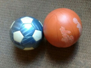 Basket ball and soccer ball