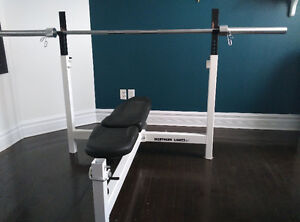 Northern Lights Bench press bar and weights
