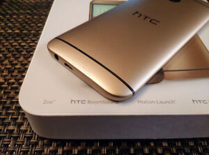 HTC M8 NEW NEW (GOLD COLOR) UNLOCK WITH CHARGER AND GAURANTY