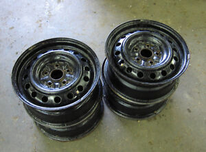 "(4) Winter steel rims 15"" x 7""....5x114.3 bolt pattern.....$80"