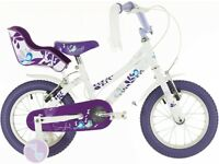 Raleigh Songbird 14 Girl's Bike with Stabilisers and Doll Carrier - 14 inch wheels, 4-6 yrs