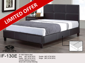 PREMIUM QUEEN PLATFORM BED - FREE SAME DAY DELIVERY & INSTALL