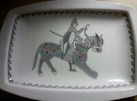 Rare Vintage English Minton Bone China Plate with Knight