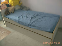 Twin size bed under a bed