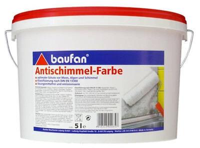 Baufan Anti Schimmel Farbe weiß 5l lösungsmittelfrei Innenfarbe Wandfarbe Decken