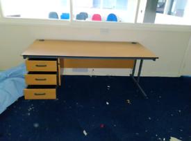 3x drawer office desk