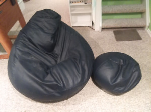 Bean Bag Chair And Footrest