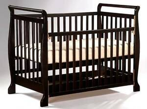 NEW NEW Wooden Sleigh Baby Cot & Converts To Toddler Bed Ballajura Swan Area Preview