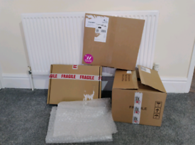 3 boxes and some bubble wrap - read below for measures