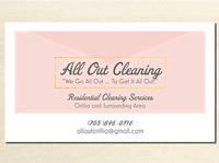 All out! Residential and cottage cleaning