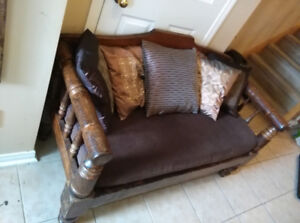 Small sofa, solid wood, antique