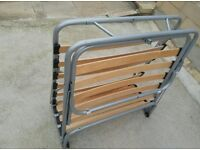 Single bed mattress with frame